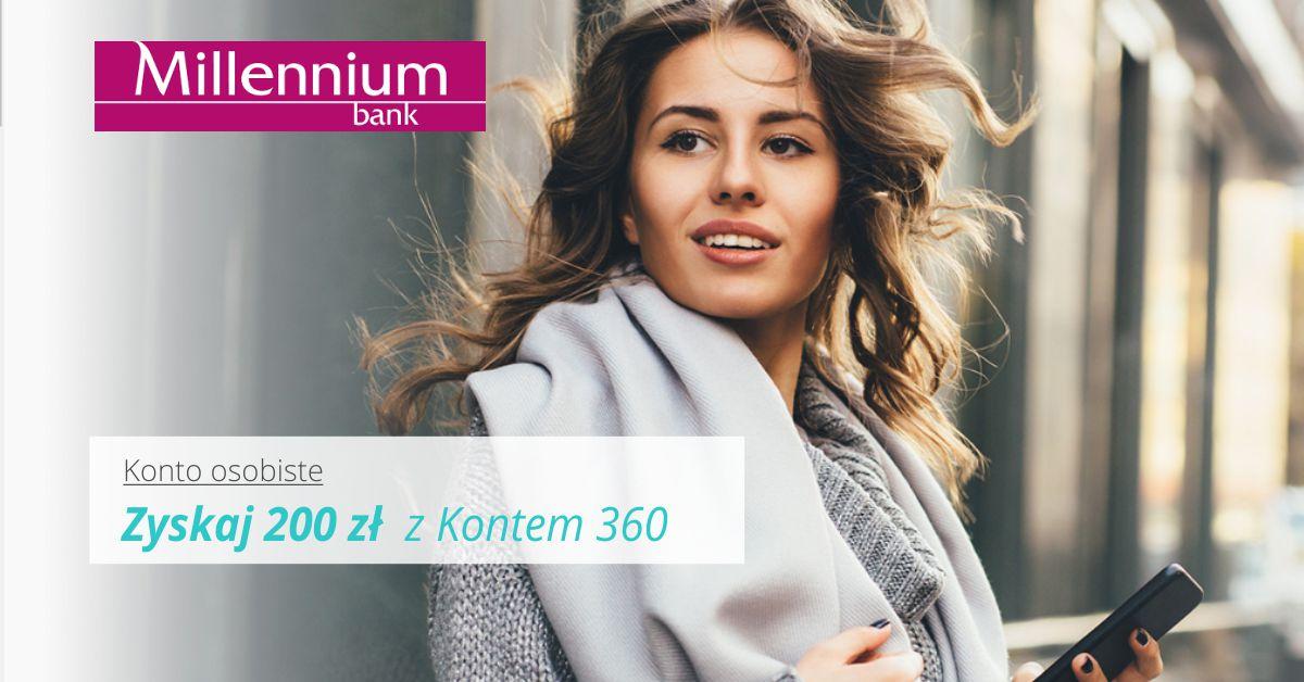 Zyskaj 200 zł z Bankiem Millenium + 200 zł z kartą kredytową