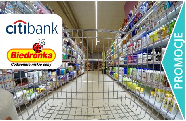 300 zł na zakupy do Biedronki. Takie oferta od Citibanku!